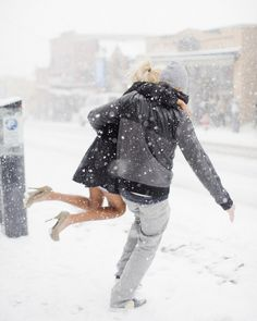 heels and the snow