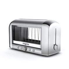 Vision Toaster - The Vision Toaster is the ultimate in modern kitchen appliances. With a visual control for toast just the way you like it and long-life quartz elements for consistent browning, you are now able to take charge of your toasting. The double insulated glass windows provide optimal viewing, while containing the immense heat from this innovative and powerful toaster.