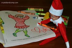 Elf On the Shelf Letter When They Leave | Elf on the Shelf: He is Colorful | CrystalandComp.com