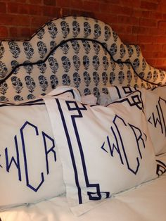 don't you love these monogrammed shams!