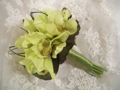 green orchid bouquet