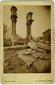 Ruins Of The Chicago Fire, October 8, 1871