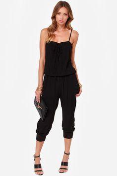 black jumpsuit, romper