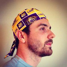 Louisiana State University LSU surgical scrub hat scrub cap