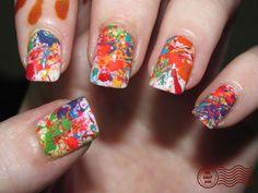 Paint splatter nails!