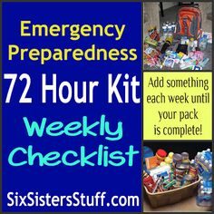 Make a 72 hour kit a little at a time #emergencypreparedness