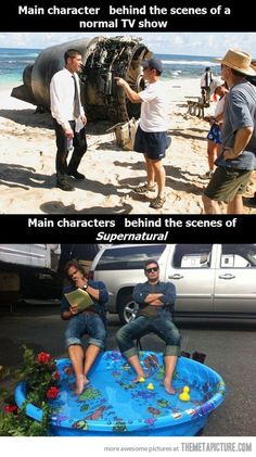 Lol, LOST! Is not a normal TV show XD But there is a point here, the cast of Supernatural does have more fun than anybody in the world XD