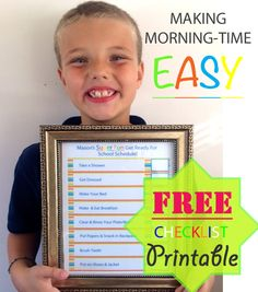 Making morning time easier with a before school routine checklist.  FREE PRINTABLE!