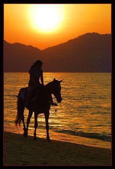 riding on the beach...LOVE
