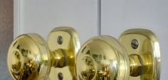 More tips for spray painting brass door knobs (I have GOT to do this soon)