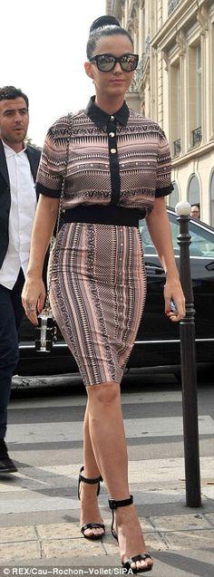 Katy Perry at Paris Fashion week 2013