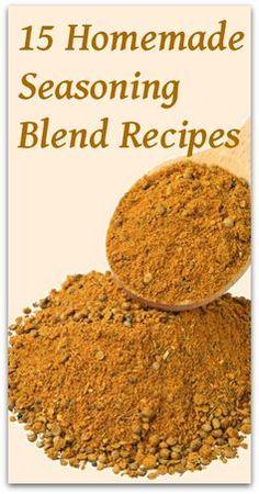 15 Homemade Seasoning Blend Recipes - Natural Holistic Life #seasoning #recipes #natural #holistic