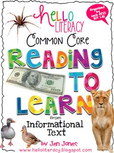 Hello Literacy: Common Core Reading Informational Text Bundle Uploaded & On Sale!