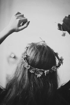 boho flower crown.