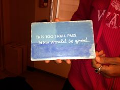 One of the many inspirational sayings that Robin Roberts has on display in her dressing room at Good Morning America. www.guideposts.or...