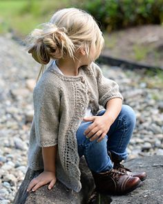 Cutest little outfit ever! Cove Cardigan pattern by Heidi May.