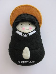 Saint Elizabeth Ann Seton Felt Saint Softie by SaintlySilver, $18.00