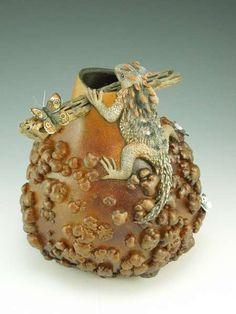 amaz gourd, gourd art, art project, gibson art, gourds