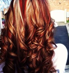 Fun hair color...I actually really like this!