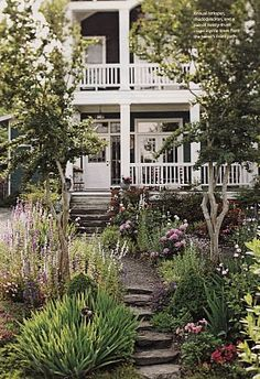 Beautiful front yard without a lawn