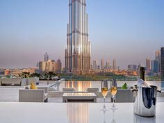 What a view from the patio at Sofitel Dubai Downtown