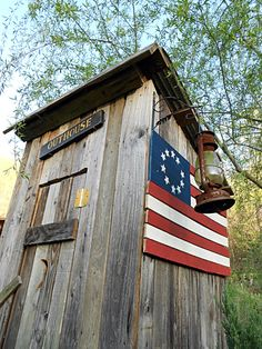 Colonial style outhouse
