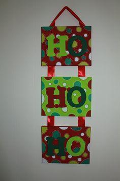 Ho Ho Ho Christmas Canvas by PoshRoseBoutique on Etsy, $30.00