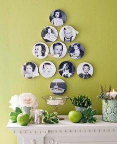 Create a family tree using copies of vintage baby pics. Hang them for a fun Thanksgiving decoration. For more great Thanksgiving ideas: http://www.midwestliving.com/homes/seasonal-decorating/25-ways-to-show-you-care/?page=7