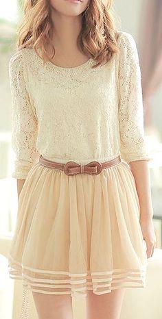Lace & Ruffle Lace Skirt ♥
