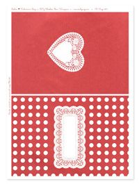 FREE PRINTABLE DIY Valentine / Part 2: Choco Bar Wrappers. Doilies + RED ***