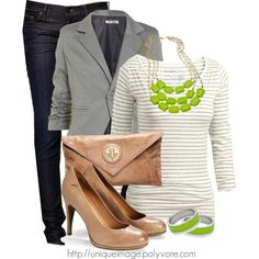 Lime Green and Stripes :)
