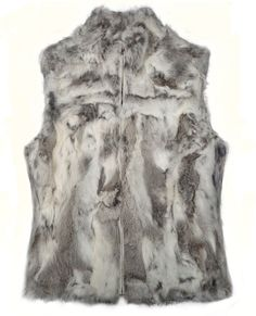 Sienna Grey Gilet Fur - Gilets-Jackets