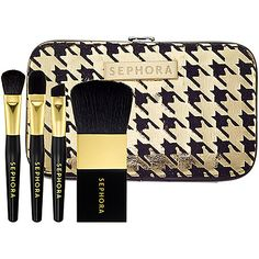 New Year's Beauty: SEPHORA COLLECTION Houndstooth Mini Brush Set #NewYears #NYE #2013 #Sephora