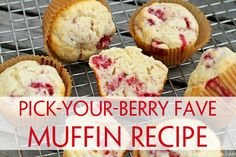 Customizable Berry Muffin Recipe | Unsophisticook.com -- if you're looking for a really good homemade blueberry muffin recipe... or raspberry, blackberry, strawberry, etc... this one's a winner!