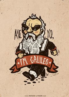 Galileo - 2014 / Ronan Lynam #galileo #science #astronomy #typography #illustration #vintage #art #artist