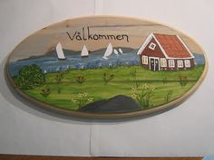 Lovely Swedish painting on wood