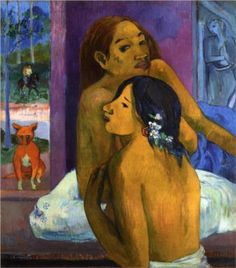 Two women (Flowered hair) - Paul Gauguin