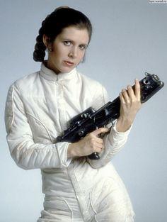 Princess Leia. Like mother, like daughter.