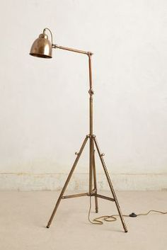 Living room 1: tripod floor lamp