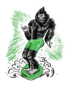 Surfing-sasquatch