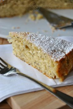 Lemon Chia Breakfast Cake: delicious, moist lemon coffee cake with chia seeds! perfect for brunch @Liting Sweets