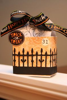 tutorial and template halloween box