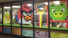 love this idea with post-its. student project...