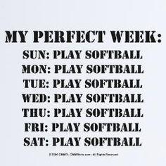 my perfect week!