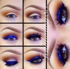 blue eyeshadow for brown eyes, blue eyeshadow brown eyes, blue makeup for brown eyes, blue eyeshadow makeup, brown eyes blue eyeshadow