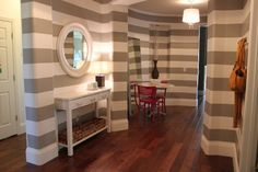 Gray and White Striped Walls  Houzz