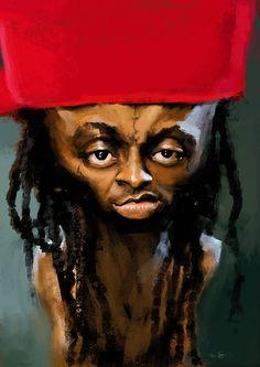 Caricaturas de Lil Wayne.