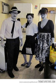 Black and White People group costume #halloween