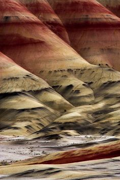 Painted Hills Fossil Beds, National Monument - Oregon.... Right in our backyard!