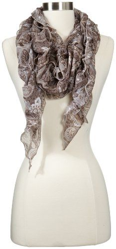 collection eighteen Women's Tangled Paisley Boa, Pinecone More